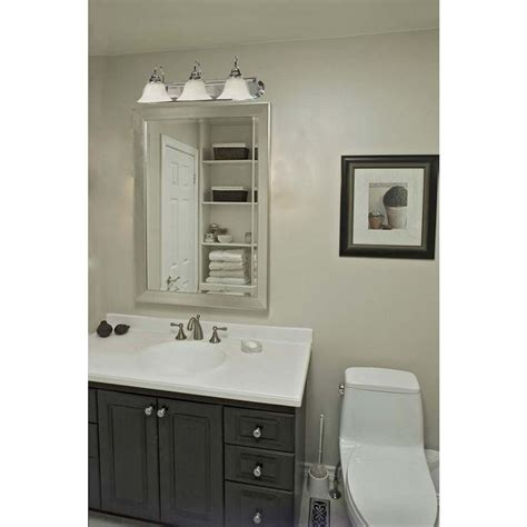 Vanity Light Shades Glomar 3 Light Polished Chrome Vanity Light With Alabaster Glass Bell Shades Hd 317 The Home Depot