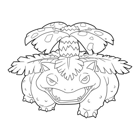 pokemon coloring pages venusaur pokemon 003 venusaur line art by illustrationoverdose