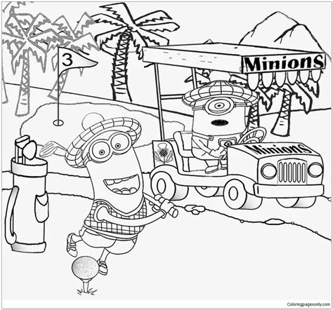 minion golfer coloring page minion golf coloring page free coloring pages online
