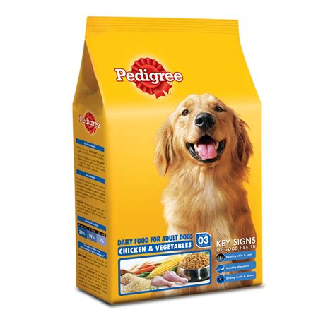 pedigree dog food adult chicken vegetables  kg
