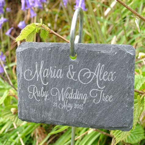 Slate Plant Markers Personalised Hanging Slate Plant Marker By Seahorse