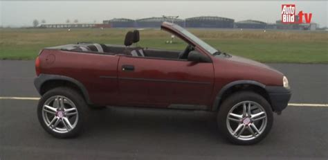 vintage opel old opel corsa turned into convertible suv autoevolution