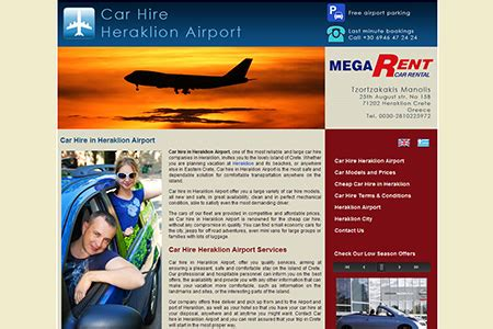 car hire in heraklion airport by megarent