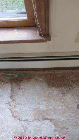 building wall  window leak diagnosis   find