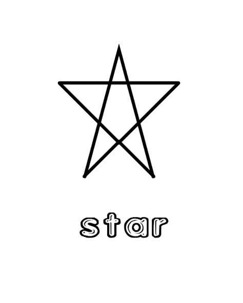 star shape colouring p