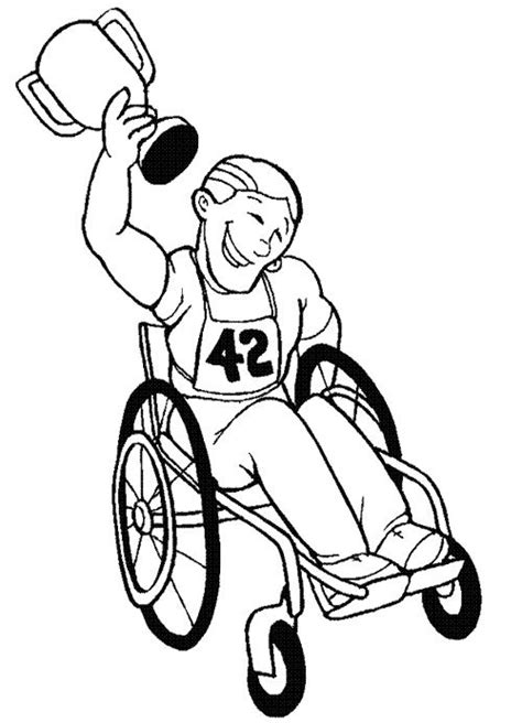 coloring pages for special needs adults disabled athlethes free colouring pages