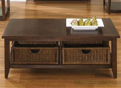 Coffee Table Basket Coffee Table W 2 Basket Drawers By Liberty Furniture Wolf And Gardiner Wolf Furniture