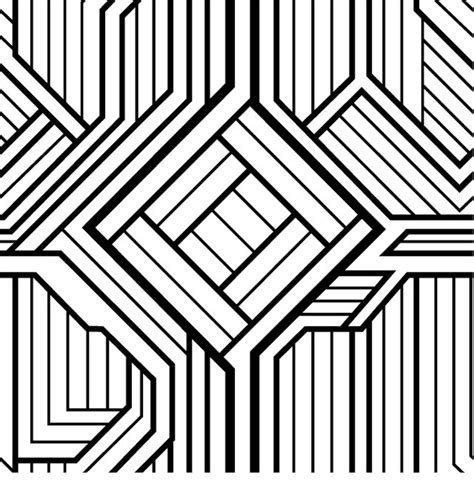 3d geometric printable coloring pages coloring pages