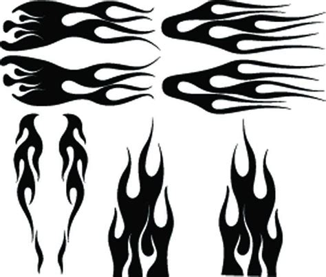 the gallery for gt airbrush flame template