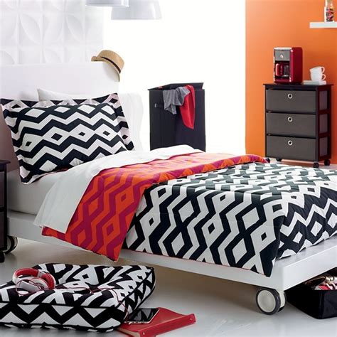 Tribal Print Comforter by Chic Black And White Bedding For