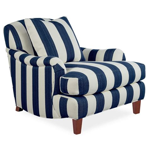 blue white striped armchair upholstery is getting livelier thanks to peppy fabrics and