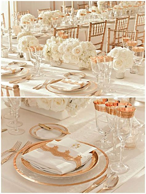 white and gold table settings wedding tablescape gold white i like this table