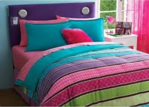 Girls lime green and purple and hot pink soda bedding substitute