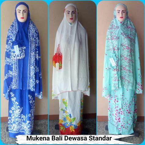 Mukena Ibu Anak Katun Rayon Bali Grosir Murah Dewasa Jumbo grosir mukena bali dewasa standar termurah 60ribuan