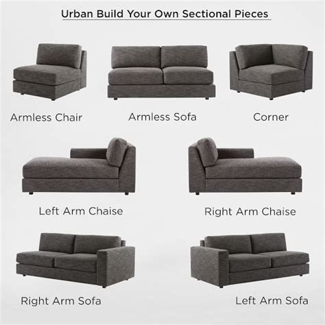 build your sectional build your own urban sectional pieces west elm