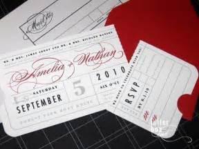 ticket wedding invitations vintage ticket wedding invitation