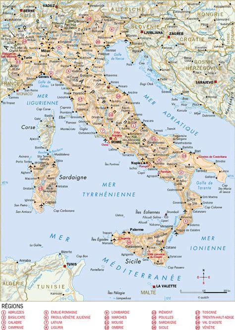 d italiaã infos sur carte italie detaillee arts et voyages