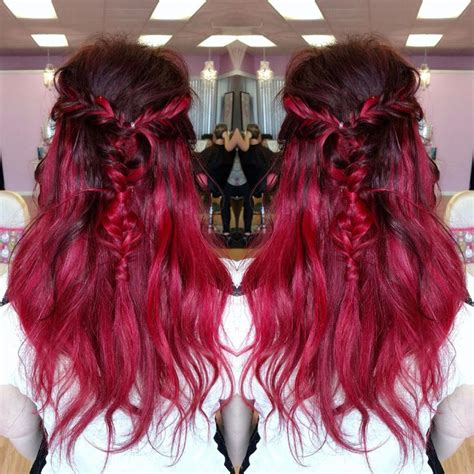 bright color ombre hairstyles hair in the bright reds category hair colors i m