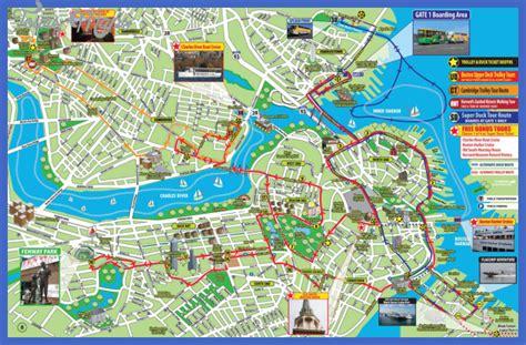 tourist map of boston usa boston map tourist attractions toursmaps