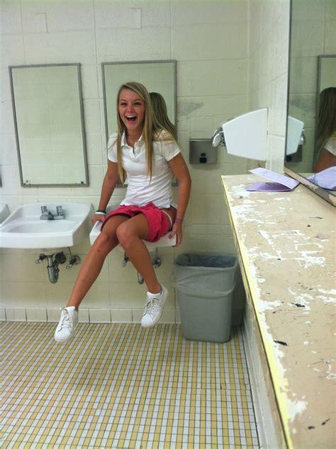 teen public toilet pessing first day of school schoolgirl in toilet