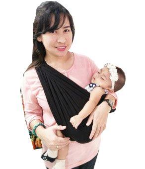 Gendongan Bayi Geos Bians geos bians banyak posisi gendongan kaos bayi hitam