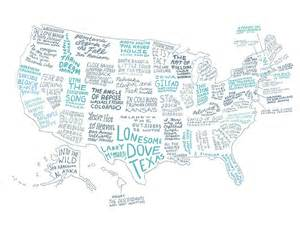 map book of the us what s your state book a literary map of the united states
