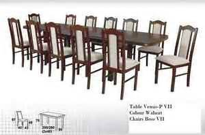 solid wood table extending 12 chairs set dining or