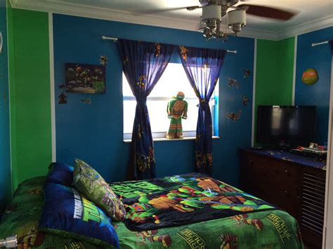 ninja bedroom theme tmnt room blue and green bedrooms bathrooms