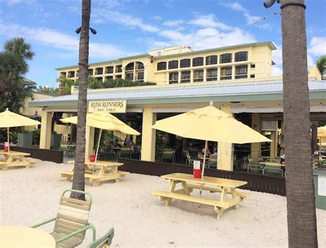 bar st pete rum runners beachfront bar grille bar restaurant st pete st pete