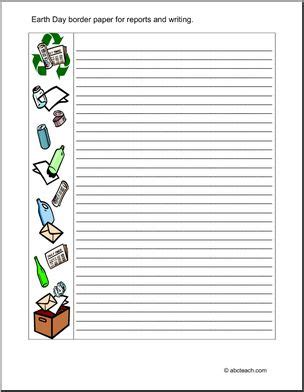 printable writing paper upper elementary earth day upper elementary writing paper i abcteach com