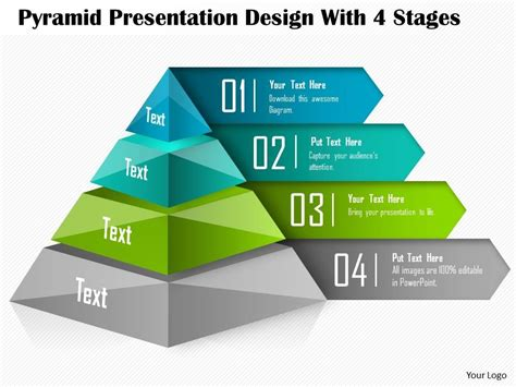 0514 Pyramid Presentation Design With 4 Stages Powerpoint Presentation Powerpoint Presentation Powerpoint Pyramid Template