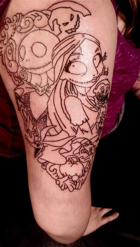 jack and sally couple tattoos 22 best and sally tattoos images on