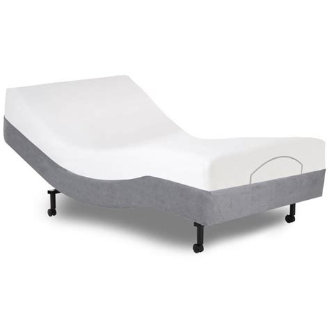 twin bed base fashion bed simplicity twin adjustable bed base in gray 4ar487