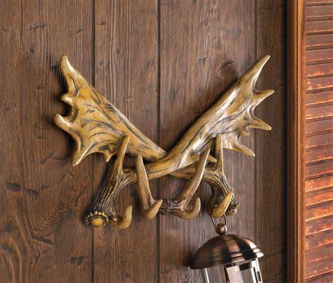deer antler bathroom decor wall rustic antler hook deer cast coat cabin lodge decor