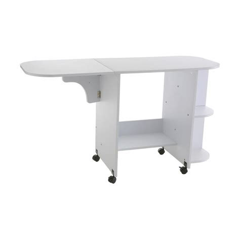 swing tables com sei laminate wheeled sewing table white