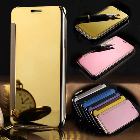Promo Flip Smart Mirror Samsung Galaxy S7 Edge Clear Kaca Cover for samsung galaxy s7 edge smart sleep view mirror flip leather wallet for samsung galaxy s
