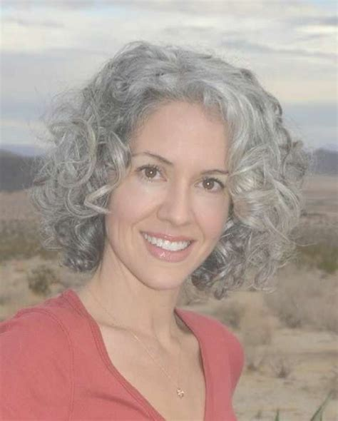 best 25 curly gray hair ideas on pinterest why grey 25 collection of medium hairstyles for grey haired woman