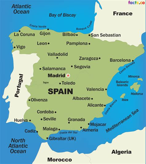 map of spain with cities spain map blank political spain map with cities