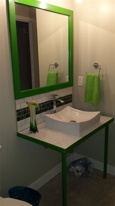 green bathroom vanity green bathroom vanity sd metalworks