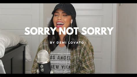 demi lovato sorry not sorry cover sorry not sorry demi lovato cover by nandy martin youtube
