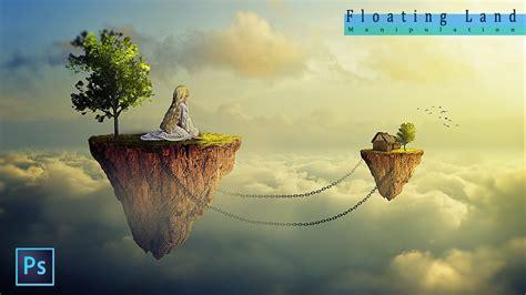 fantasy floating land photoshop manipulation tutorial