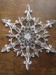 Handmade Snowflakes - handmade paper quilled snowflake ornament