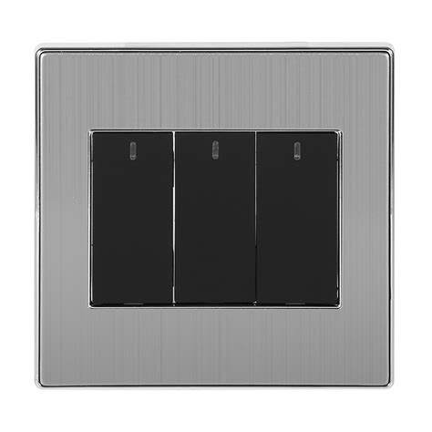 3 way push button l switch 1 2 3 4 gang 1 2 way 250v 10a led wall light control