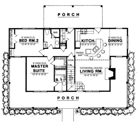 2 bedroom house floor plans open floor plan country style house plan 3 beds 2 baths 1250 sq ft plan