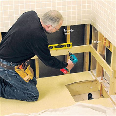 bathtub ledger board replacing a bathtub how to repair or replace a bath tub