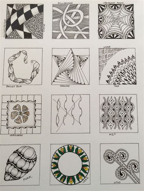 zentangle pattern guide zentangle pattern sler by terri of zentangle club
