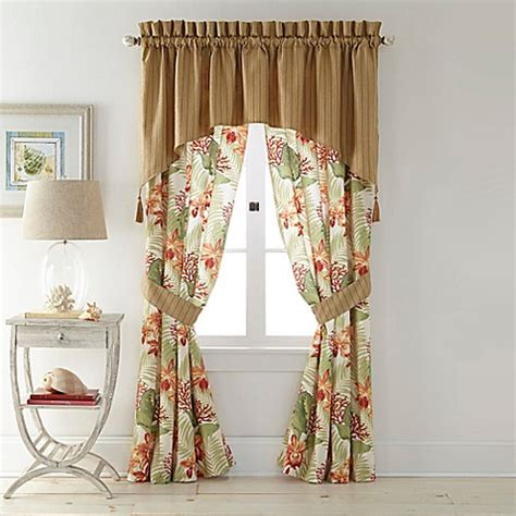 Coral Valance Curtains Coral Window Curtain Panel And Valance Bed Bath Beyond