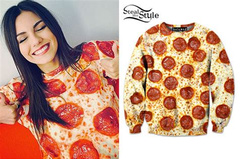 victoria justice pepperoni pizza crewneck steal her style
