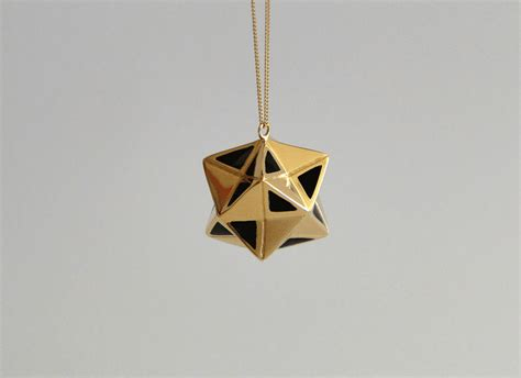 Origami Necklace Charms - magic vermeil