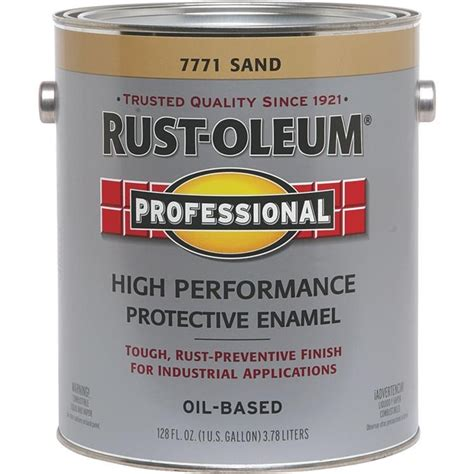 buy the rust oleum 7771402 protective enamel paint sand gallon hardware world